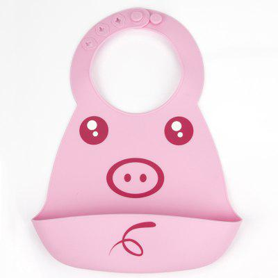 Cute Pink Piggy Pattern Baby Bib