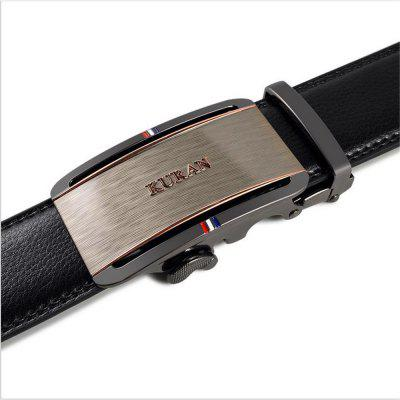 Alloy Automatic Buckle for Mens Leather BeltBelts<br>Alloy Automatic Buckle for Mens Leather Belt<br><br>Belt Material: Cowskin<br>Belt Silhouette: Wide Belt<br>Gender: For Men<br>Group: Adult<br>Package Contents: 1 X BELT<br>Package size (L x W x H): 10.00 x 10.00 x 10.00 cm / 3.94 x 3.94 x 3.94 inches<br>Package weight: 0.3500 kg<br>Pattern Type: Others<br>Style: Formal
