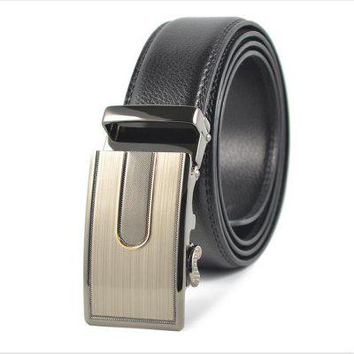 Men's Leather Casual Leather Leather Belt Buckle Automatically