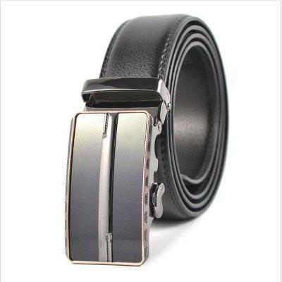 Men's Business and Leisure Automatically Buckle The Leather Belt
