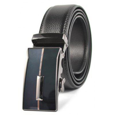 Men's Leather Casual and Automatic Buckle Belt