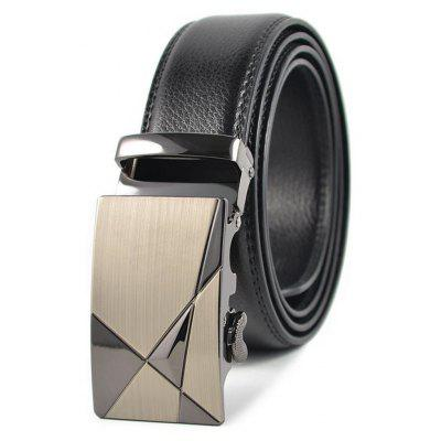 Men's Leather Automatic Buckle Business and Leisure Belt