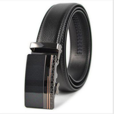 Automatic Buckle Alloy Buckle Leather Men's Casual Belt Business