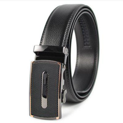 The New Automatic Buckle Alloy Buckle Leather Belt Men's Casual Business