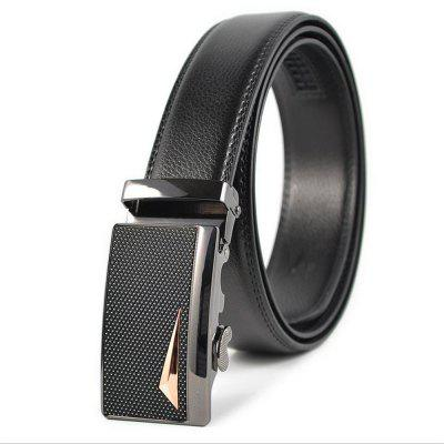 Alloy Automatic Buckle Leather Mens Leisure Belt