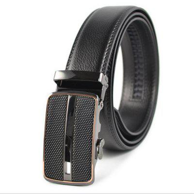 Alloy Automatic Buckle of Men's Leather Business Casual New Belt
