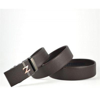 New Type of Skin Buckle, Double Pack Water Rubbed Men's Belt