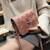Mini square Simple Cactus Embroidery Messenger Bag - PINK