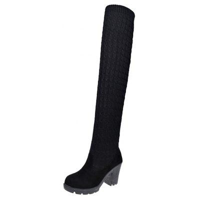 XS-169 Stretch Wool Thick Heeled Thigh Boots Long CanisterWomens Boots<br>XS-169 Stretch Wool Thick Heeled Thigh Boots Long Canister<br><br>Boot Height: Over-the-Knee<br>Boot Type: Fashion Boots<br>Closure Type: Slip-On<br>Gender: For Women<br>Heel Type: Chunky Heel<br>Package Contents: 1xShoes pair<br>Pattern Type: Solid<br>Season: Spring/Fall, Winter<br>Toe Shape: Round Toe<br>Upper Material: Flock<br>Weight: 0.9360kg