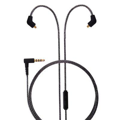 BASN MC100 MMCX Replacement Headphone Cable with Microphone and Remote Upgrade Wire for Shure SE215 SE315 SE425 SE535 BASN Bsinger UE900 with Mic