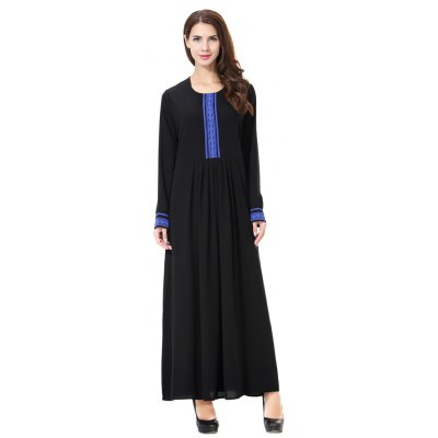 Lady Dress Pure Color Abaya TH903