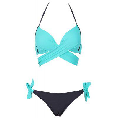 2018 Sexy Bikini Women Swimwear Cross Bandage Halter Bikini Set Beach Bathing Suit