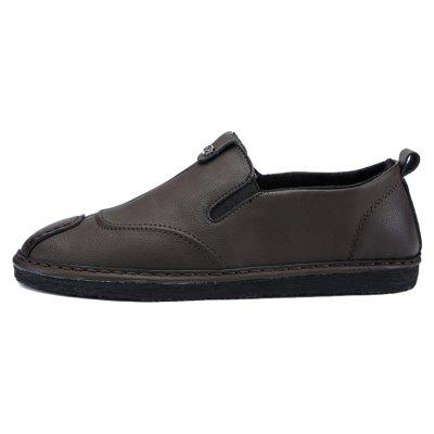 Men Casual Trend for Fashion Slip on Leather Flat Outdoor ShoesCasual Shoes<br>Men Casual Trend for Fashion Slip on Leather Flat Outdoor Shoes<br><br>Available Size: 39-44<br>Closure Type: Slip-On<br>Embellishment: None<br>Gender: For Men<br>Outsole Material: Rubber<br>Package Contents: 1x Shoes(pair)<br>Pattern Type: Solid<br>Season: Spring/Fall, Winter<br>Toe Shape: Round Toe<br>Toe Style: Closed Toe<br>Upper Material: Leather<br>Weight: 1.2000kg