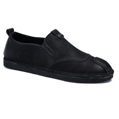 Men Casual Trend for Fashion Slip on Leather Flat Outdoor Shoes