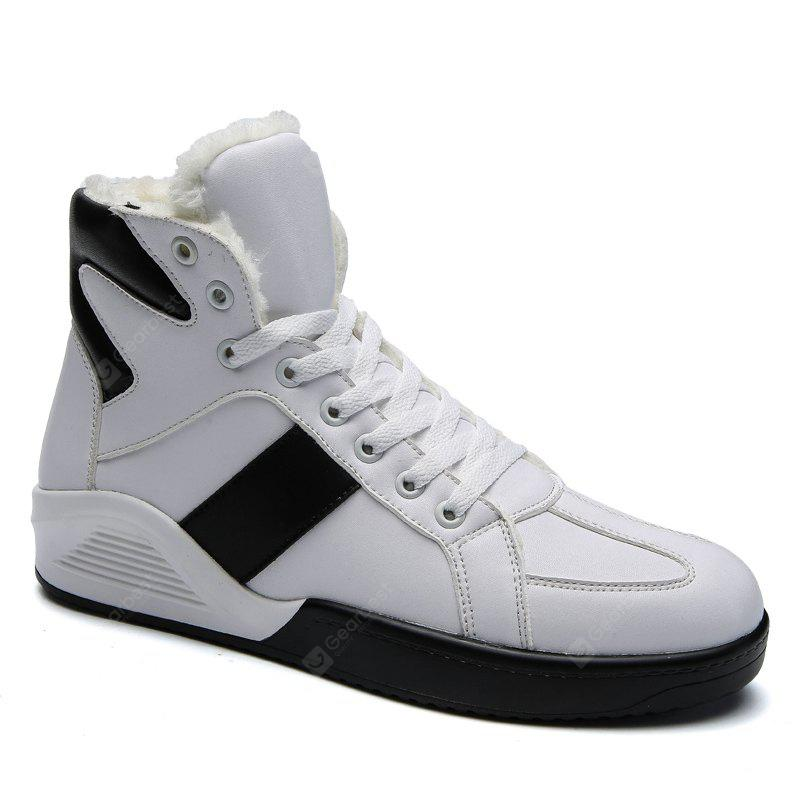 Men Fashion Outdoors Winter Warm Boots Cotton High Top Shoes Sneaker