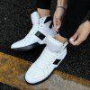 Men Fashion Outdoors Winter Warm Boots Cotton High Top Shoes Sneaker - WHITE