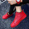 Men Fashion Winter Cotton High Top Outdoors Warm Shoes Sneaker - RED