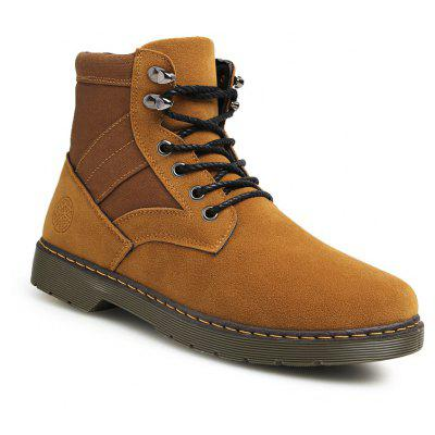 Men Fashion Boots Outdoors Casual High Top Black Shoes Sneaker