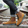 Men Fashion Boots Outdoors Casual High Top Black Shoes Sneaker - BROWN