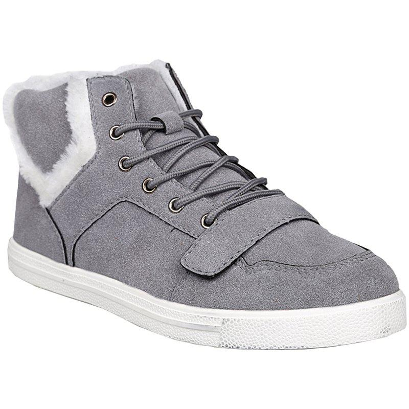 Men Fashion Leisure Outdoors Cotton Warm High Top Shoes Casual Sneaker