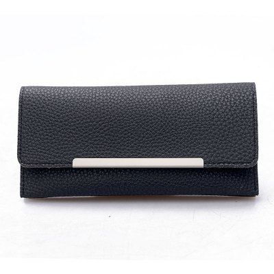 Long Paragraph Simple Lychee Pattern Envelope Bag Lady Wallet