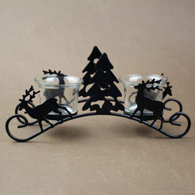 European Christmas tree/deer/angel iron lamp candlestick lantern wedding props candlestick Christmas present