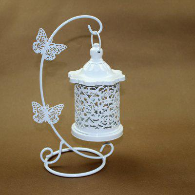 European style iron art hollowed-out candleholder creative butterfly hooks 2017 new home furnishing crafts decoration