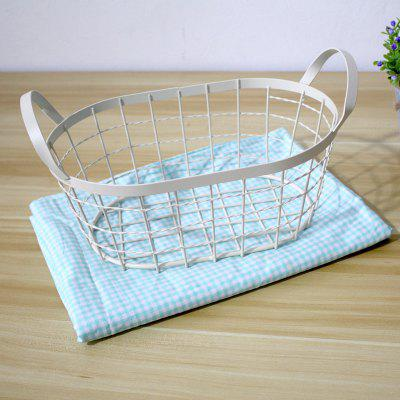 Zakka hand iron art collection basket woven wire basketHome Gadgets<br>Zakka hand iron art collection basket woven wire basket<br><br>Available Color: White<br>Materials: Metal<br>Package Contents: 1xReceive basket<br>Package Size(L x W x H): 25.00 x 35.00 x 13.00 cm / 9.84 x 13.78 x 5.12 inches<br>Package weight: 1.1000 kg