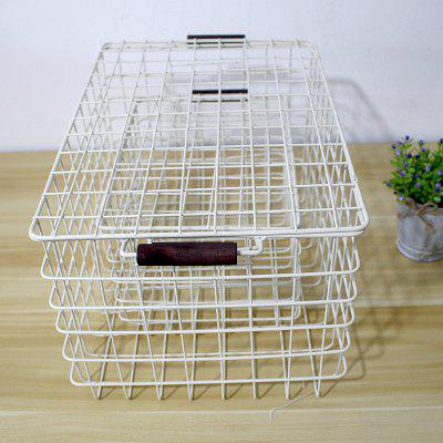 Zakka hand iron art collection basket woven wire basket