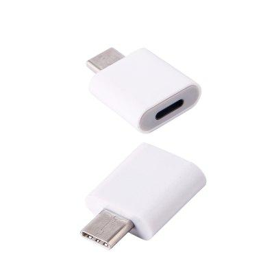2pcs Iphone 8pin to USB 3.1 Type-C Male Converter Adapter