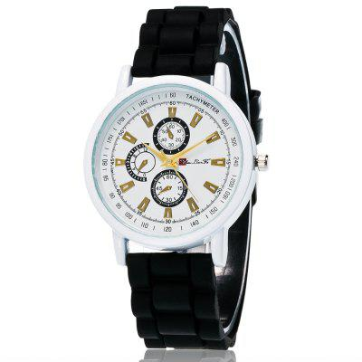 ZhouLianFa New Fashion Trend Silicone Leather Strap Luxury Multi-Business Three Quartz Watches
