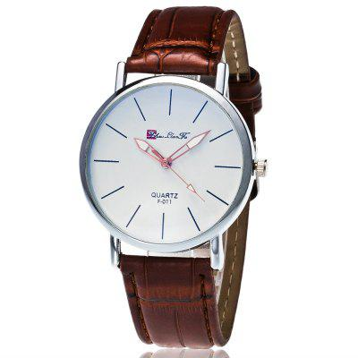 ZhouLianFa New Trendy Fashion Bamboo Grain Silver Dial Business Casual Quartz Watch