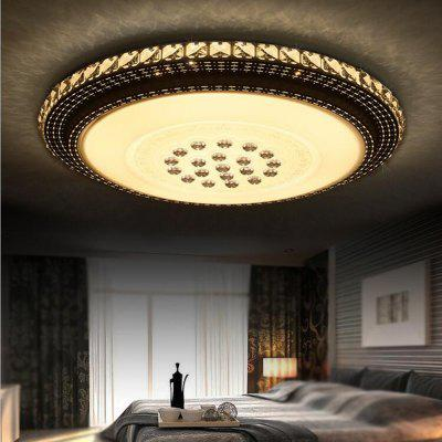 36 Watts and Three Colored Sky City Round LED Crystal Ceiling Light 51 CM