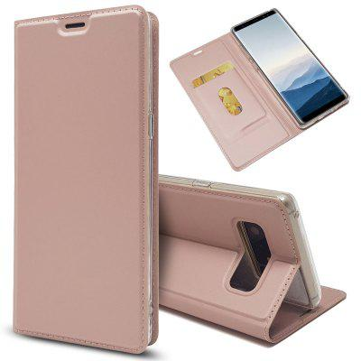 New Luxury Flip Card Slot Magnetic Suction PU Leather Cover for Samsung Galaxy Note 8