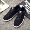 Men's Sneakers Lace Up Wearable Stylish Breathable Casual Sports Shoes - BLACK