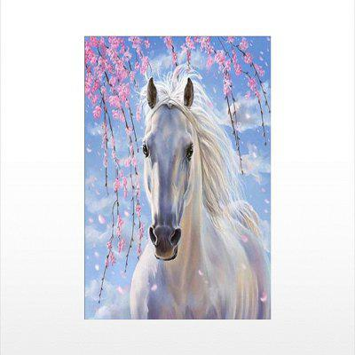 Naiyue P020 White Horse Print Draw Diamond Drawing