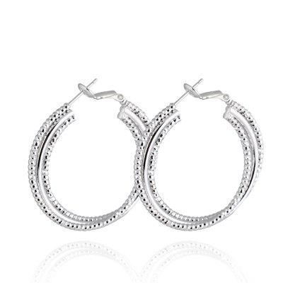 Three Layer Spiral Large Earrings  ER0361
