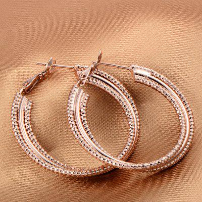 Trendy Grind Three Layers of  Earrings ER0382Earrings<br>Trendy Grind Three Layers of  Earrings ER0382<br><br>Back Finding: Other<br>Earring Type: Hoop Earrings<br>Gender: For Women<br>Material: Cubic Zirconia<br>Metal Type: Copper<br>Occasion: Party<br>Package Contents: 1 x Earrings<br>Package size (L x W x H): 5.00 x 3.50 x 0.50 cm / 1.97 x 1.38 x 0.2 inches<br>Package weight: 0.0100 kg<br>Shape/Pattern: Geometric<br>Style: Classic<br>Surface Plating: 18K Gold Plated