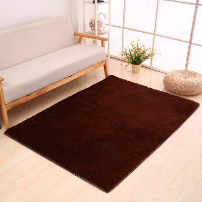 Buy COFFEE BROWN 50X80CM Door Rug Simple Fresh Style Rectangle Yoga Mat for $7.37 in GearBest store