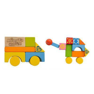 Wooden Building Blocks Educational PuzzleBlock Toys<br>Wooden Building Blocks Educational Puzzle<br><br>Gender: Unisex<br>Materials: Wood<br>Package Contents: 1 x set of block<br>Package size: 18.00 x 18.00 x 17.00 cm / 7.09 x 7.09 x 6.69 inches<br>Package weight: 0.7300 kg<br>Suitable Age: Kid<br>Theme: Other<br>Type: Building