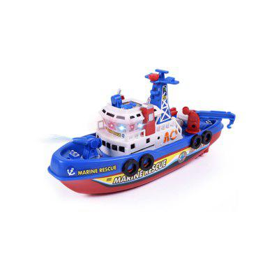 Children model toys electric model fire boat music lights on the water