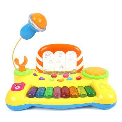 Baby Music Keyboard Lights Music Spraying Educational Baby Toy