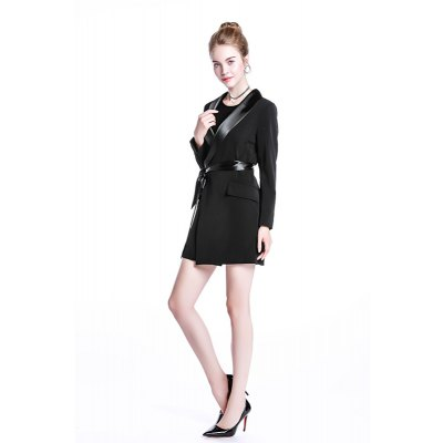 2018 New Spring Coat Slim Waist Deep V Collar Band Split Long Sleeved DressMini Dresses<br>2018 New Spring Coat Slim Waist Deep V Collar Band Split Long Sleeved Dress<br><br>Dresses Length: Mini<br>Elasticity: Elastic<br>Fabric Type: Canvas<br>Material: Polyester, Spandex<br>Neckline: V-Neck<br>Package Contents: 1 x Dress<br>Pattern Type: Solid<br>Season: Summer, Spring<br>Silhouette: A-Line<br>Sleeve Length: Long Sleeves<br>Style: Fashion<br>Weight: 0.5000kg<br>With Belt: No