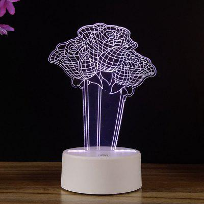 7 Color Changing Night Light 3D Rose Flower Home Decorative Desk Lamp Creative Gifts