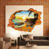 Sunshine Beach Sea Sun Tree Resort 3D Finestra Mostra adesivi murali Art Decal Sofa Wall Landscape Decoration - GIALLO