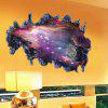 3D Space Galaxy Meteorite Soggiorno camera da letto TV Wall Stickers Home Decor - VIOLA