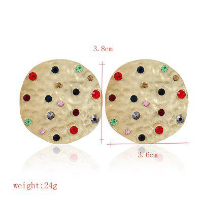 Fashionable Round Set Diamond EarringsEarrings<br>Fashionable Round Set Diamond Earrings<br><br>Earring Type: Stud Earrings<br>Gender: For Women<br>Material: Zinc Alloy<br>Metal Type: Zinc Alloy<br>Occasion: Party<br>Package Contents: 1 x pair of earring<br>Package size (L x W x H): 1.00 x 1.00 x 1.00 cm / 0.39 x 0.39 x 0.39 inches<br>Package weight: 0.0340 kg<br>Product weight: 0.0240 kg<br>Style: Trendy<br>Surface Plating: 14K Gold Plated