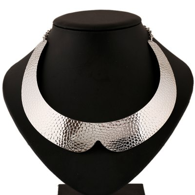 Exaggerated Metal Collar Necklaces
