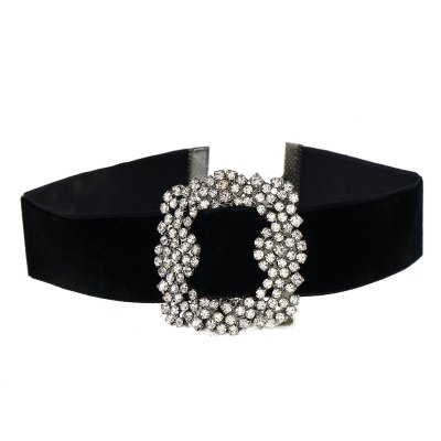 Fashionable Square Water Drill Mosaic Collarbone Collar