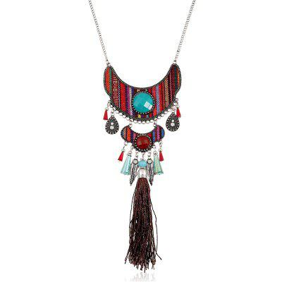 Fashionable Affixed with Water Crystal Bead Necklace